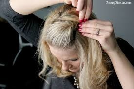 front poof hairstyles side bang pin back poof using just 1 bobby pin video