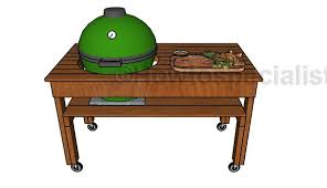 Green Egg Table by Big Green Egg Xl Table Plans Howtospecialist How To Build