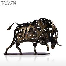 Animal Figurines Home Decor by Online Get Cheap Metal Animal Figurines Aliexpress Com Alibaba