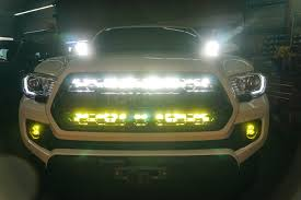 tacoma grill light bar 16 current tacoma behind the grille dual led bar light mount