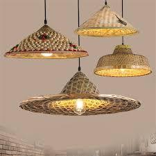 Bamboo Ceiling Light Shop Farm Hat Bamboo Pendant Light For Living Room