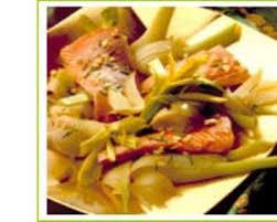 cuisiner fenouille recette saumon au fenouil et aux poireaux