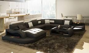 grand canap en u sydney canapé panoramique design cuir