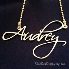 personalized script necklace script classic style name necklace customized by thaihandcraft