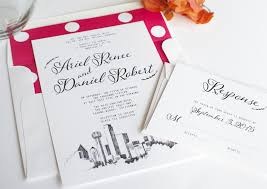 wedding invitations dallas skyline wedding invitations