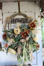 692 best fall wreaths images on pinterest autumn wreaths fall howdy western rope wreath with brown and cream flowers rustic lariat wreath cowboy country farmhouse western home decor ranch