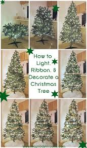 Best Way To Decorate A Christmas Tree Best 25 Christmas Tree Ribbon Ideas On Pinterest Ribbon On