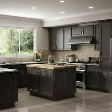white kitchen cabinets ebay details about fully assembled all wood 10x10 luxor smokey grey shaker kitchen cabinets gray