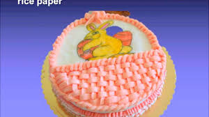 Edible Cake Decorating Paper How To Do Edible Painting On Cake With Rice Paper Youtube