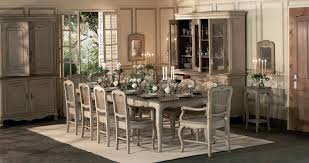modern classic dining room round brown varnished wooden dining