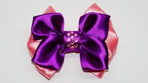 ribbon hair bow diy crafts how to make simple easy bow ribbon hair bow tutorial