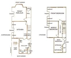 edwardian house plans room plans for a typical victorian or edwardian terraced house as it