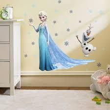 description d une chambre de fille acheter 2015 frozen elsa olaf sticker mural décoration pour la