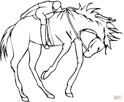 jockey on a horse coloring page free printable coloring pages