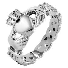 the claddagh ring elya stainless steel claddagh ring with celtic knot eternity