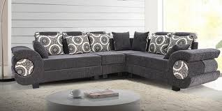 sofa l shape furniture grey uphplstared l shape sofa with curved arm and back