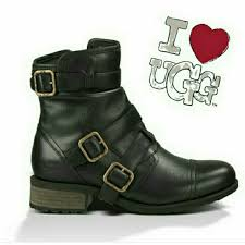 ugg womens finney boots black 41 ugg boots sale authentic nib ugg finney leather boot