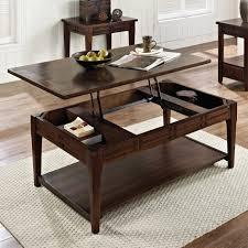 Hidden Compartment Coffee Table by Ager Keller Lift Top Coffee Table Dark Sonoma Finish Mdf Material