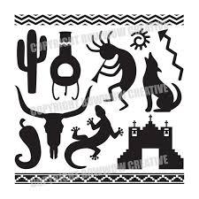 southwestern designs set of southwestern silhouette designs digital by bowwowcreative