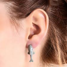 back stud earrings shark front and back stud earrings s