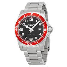 black bracelet mens watches images Longines hydroconquest black dial stainless steel bracelet men 39 s jpg