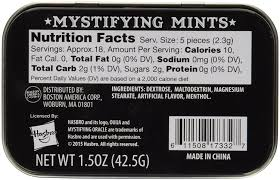 spirit halloween woburn mall amazon com candy tin ouija mystifying mints 1 5 oz breath