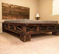 Cal King Platform Bed Diy by Best 25 Rustic Bed Frames Ideas On Pinterest Diy Bed Frame