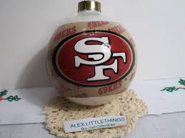 ebluejay san francisco 49ers christmas ornament
