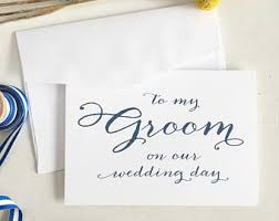 Card For Groom From Bride Bride To Groom Card Etsy
