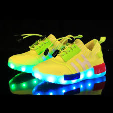Kids Light Up Shoes Kids Usb Charge Led Shoes With Light Up Sole Yellow Volt Red Blue Sale