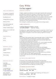 Application Support Analyst Sample Resume by It Cv Template Cv Library Technology Job Description Java Cv