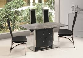 marble top dining room sets kitchen table extraordinary black marble dining table and chairs
