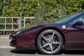 replica ferrari 458 italia rare vinaccia claret dark purple ferrari 458 italia seen on the