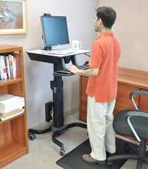 computer cart workfit c mobile standing workstation ergotron