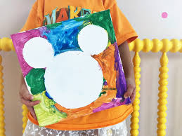 mickey mouse tape resist craft the chirping moms