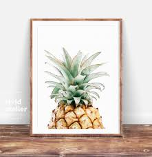 Pineapple Decorations For Kitchen by Pineapple Print Wall Art Printable Pineapple Kitchen Decor