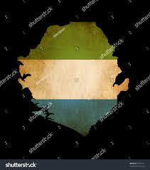Map Of Sierra Leone Outline Map Sierra Leone Flag Grunge Stock Illustration 97512131