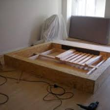 Diy Platform Bed Frame Plans by Diy Platform Bed Plans Hampedia