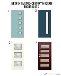 front doors cool mid century front door for contemporary home