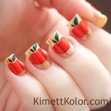 abstract watercolor painting on my nails kimett kolor
