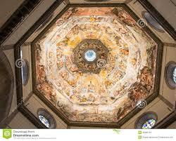 dashboard fiore interior view of the painting of dome basilica di santa maria del