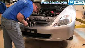 honda accord bumper replacement cost how to install replace front bumper cover honda accord 04 07