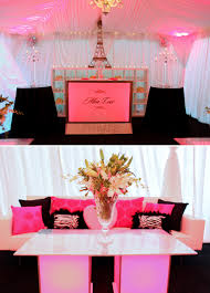 primrose cottage wedding reception pink black decor the