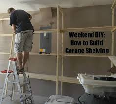 how to build wood garage storage shelves discover woodworking