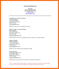 Example Reference Page For Resume by 6 Reference Page Resume Credit Letter Sample