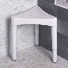 adjustable corner shower seat