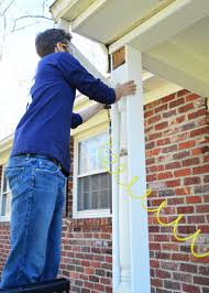 removing scalloped porch trim u0026 fixing the columns young house love