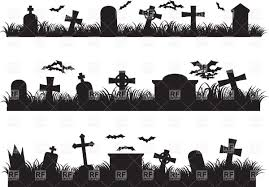 halloween free vector background halloween graveyard silhouette of cemetery vector image 39735