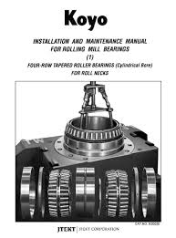 b3002e installation u0026 maintenance rolling mill bearings tapered