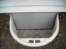 crawl space entry well and weather tight door exterior the